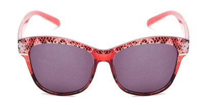 Front of The Celine Reading Sunglasses in Red with Smoke