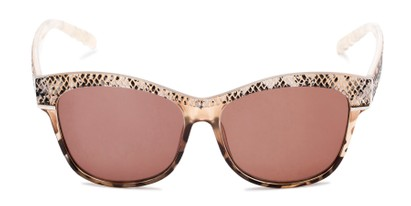 Front of The Celine Reading Sunglasses in Tan with Amber