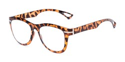 Angle of The Cerise Flexible Reader in Tortoise, Women's and Men's Retro Square Reading Glasses