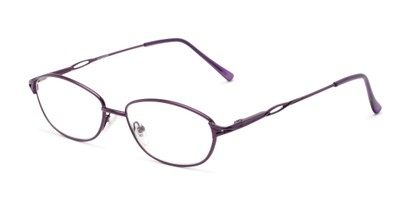 Angle of The Cerulean in Purple, Women's and Men's Oval Reading Glasses