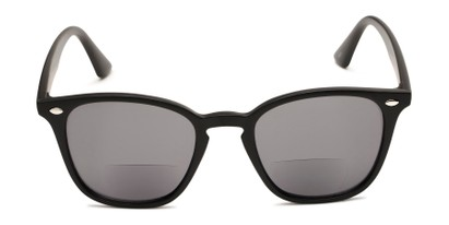 Front of The Chambray Bifocal Reading Sunglasses in Matte Black with Smoke