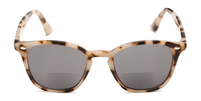 Front of The Chambray Bifocal Reading Sunglasses in Tan Tortoise with Smoke