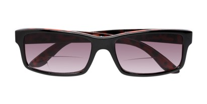 Folded of The Champion Bifocal Reading Sunglasses in Black/Tortoise with Smoke