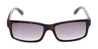 Front of The Champion Bifocal Reading Sunglasses in Tortoise with Smoke