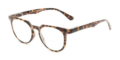 Angle of The Chapter Bifocal in Brown Tortoise, Women's and Men's Round Reading Glasses