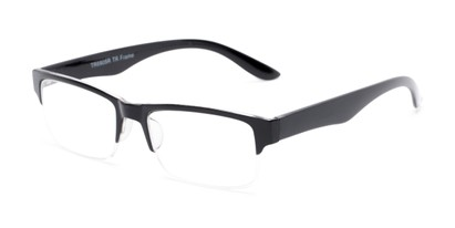 Angle of The Chariot in Black, Women's and Men's Rectangle Reading Glasses