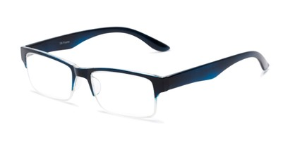 Angle of The Chariot in Blue, Women's and Men's Rectangle Reading Glasses