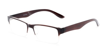 Angle of The Chariot in Brown, Women's and Men's Rectangle Reading Glasses