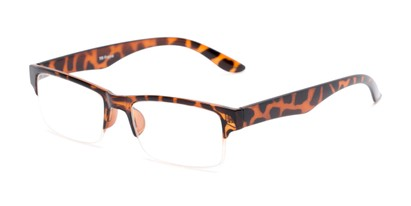 Angle of The Chariot in Tortoise, Women's and Men's Rectangle Reading Glasses