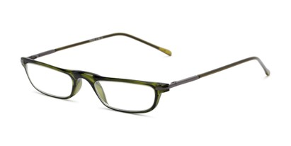 Angle of The Charm in Green, Women's and Men's Rectangle Reading Glasses