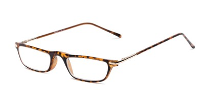 Angle of The Charm in Light Tortoise, Women's and Men's Rectangle Reading Glasses