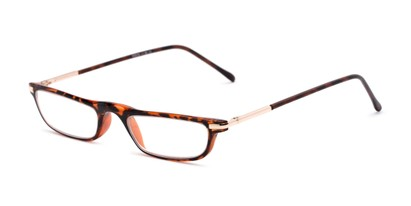 Angle of The Charm in Dark Tortoise, Women's and Men's Rectangle Reading Glasses