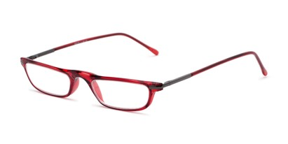 Angle of The Charm in Red, Women's and Men's Rectangle Reading Glasses