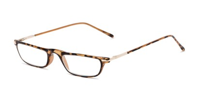 Angle of The Charm in Tan Tortoise, Women's and Men's Rectangle Reading Glasses
