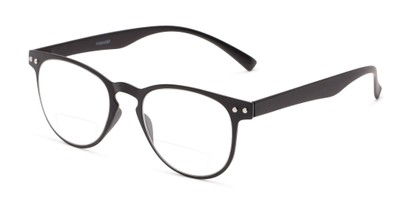 Angle of The Chatham Flexible Bifocal in Black, Women's and Men's Round Reading Glasses