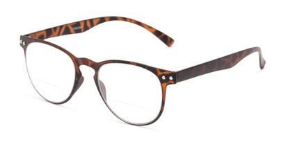 Angle of The Chatham Flexible Bifocal in Dark Tortoise, Women's and Men's Round Reading Glasses
