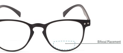 Detail of The Chatham Flexible Bifocal in Black