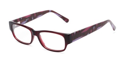 Angle of Chelsea by felix + iris in Burgundy Geo, Women's Retro Square Reading Glasses