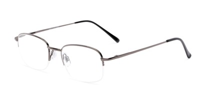 Angle of The Chesterton in Grey/Black, Women's and Men's Rectangle Reading Glasses