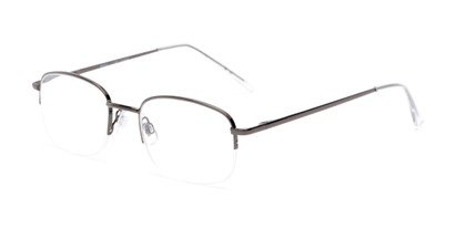 Angle of The Chesterton in Grey/Clear, Women's and Men's Rectangle Reading Glasses