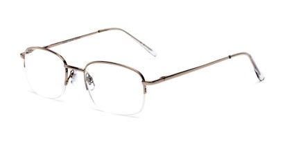 Angle of The Chesterton in Silver/Clear, Women's and Men's Rectangle Reading Glasses