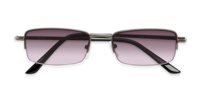 Folded of The Cinder Reading Sunglasses in Grey with Smoke