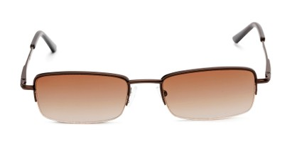 Front of The Cinder Reading Sunglasses in Bronze with Amber