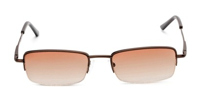 Front of The Cinder Reading Sunglasses in Bronze with Light Amber