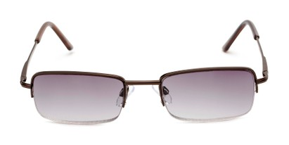 Front of The Cinder Reading Sunglasses in Bronze with Smoke