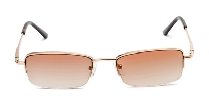 Front of The Cinder Reading Sunglasses in Gold with Light Amber