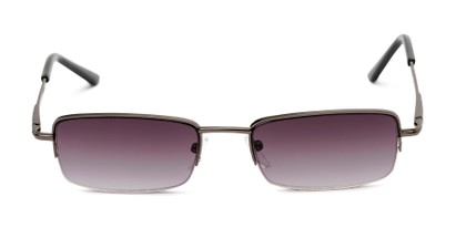 Front of The Cinder Reading Sunglasses in Grey with Smoke