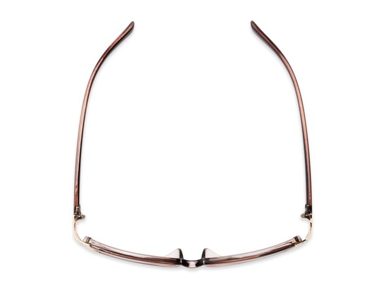 Overhead of The Claire Reading Sunglasses in Brown/Gold with Amber