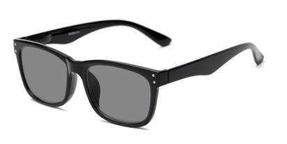 Detail of The Claude Photochromic Reader in Black with Smoke