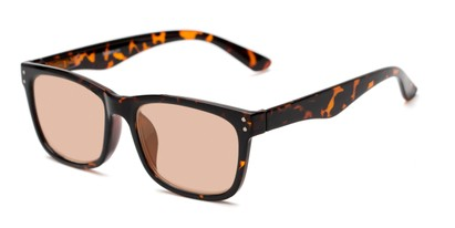 Detail of The Claude Photochromic Reader in Tortoise with Amber