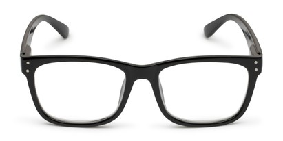 Front of The Claude Photochromic Reader in Black with Smoke