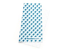 Angle of Readers.com Microfiber Lens Cleaning Cloth in Blue Houndstooth, Women's and Men's  Cleaning Cloths