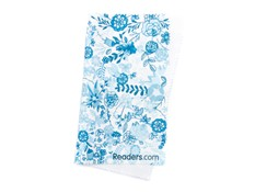 Angle of Readers.com Microfiber Lens Cleaning Cloth in Blue Floral, Women's and Men's  Cleaning Cloths