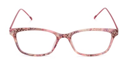 Front of The Clementine Flexible Reader in Pink Paisley