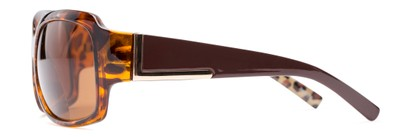 Side of The Cleo Bifocal Reading Sunglasses in Tortoise/Brown Leopard with Amber
