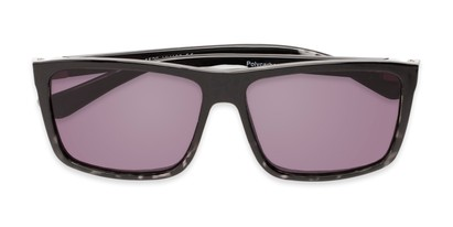 Folded of The Clifton Reading Sunglasses in Black/Clear Tortoise with Smoke