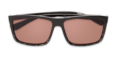 Folded of The Clifton Reading Sunglasses in Black/Clear Tortoise with Amber