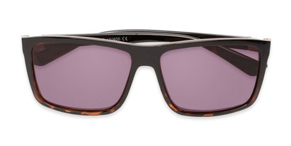 Folded of The Clifton Reading Sunglasses in Black/Brown Tortoise with Smoke