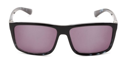 Front of The Clifton Reading Sunglasses in Black/Blue Tortoise with Smoke