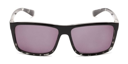 Front of The Clifton Reading Sunglasses in Black/Clear Tortoise with Smoke