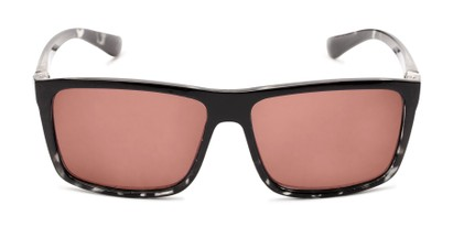 Front of The Clifton Reading Sunglasses in Black/Clear Tortoise with Amber