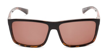 Front of The Clifton Reading Sunglasses in Black/Brown Tortoise with Amber