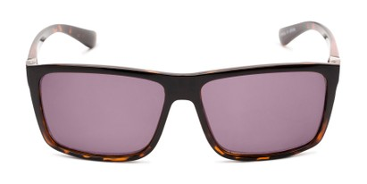 Front of The Clifton Reading Sunglasses in Black/Brown Tortoise with Smoke