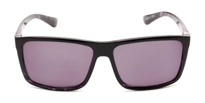 Front of The Clifton Reading Sunglasses in Black/Purple Tortoise with Smoke