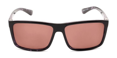 Front of The Clifton Reading Sunglasses in Black/Purple Tortoise with Amber