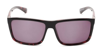 Front of The Clifton Reading Sunglasses in Black/Red Tortoise with Smoke